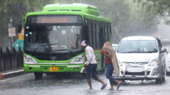 Though there's less congestion on road, commuters have to face a lot of a problems because of the traffic jams caused due to waterlogging. (Photo: IANS)