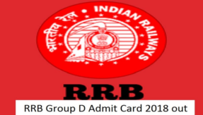 5 simple steps to download RRB Group D Exam Admit Cards 2018 @ indianrailways.gov.in