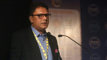 Twitter Country Director Taranjeet Singh addresses at Chief Secretaries' Conclave (Photo @IANS)