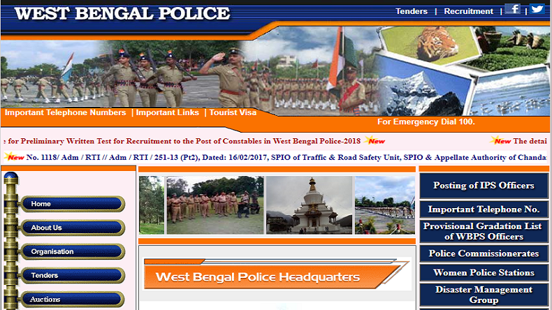 West Bengal Police Constable Recruitment 2018:  Admit Card for Preliminary exam released @ policewb.gov.in
