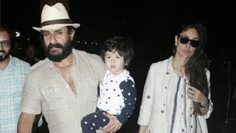 Taimur Ali Khan looks like a little cupcake with parents Saif and Kareena, watch videos