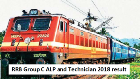 RRB Group C ALP and Technician 2018 result