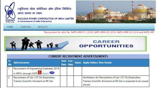 NPCIL recruitment 2018: Apply online for 13 posts of Assistant Grade - 1 @ npcilcareers.co.in