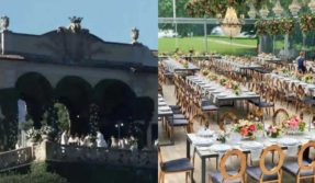 Deepika Padukone Ranveer Singh wedding photos: First glimpse of flower decoration at dining area at DeeVeer's Italy wedding