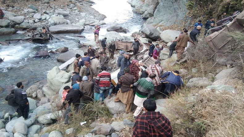jammu and kashmir, poonch, bus falls into gorge in Poonch, national news, poonch accident