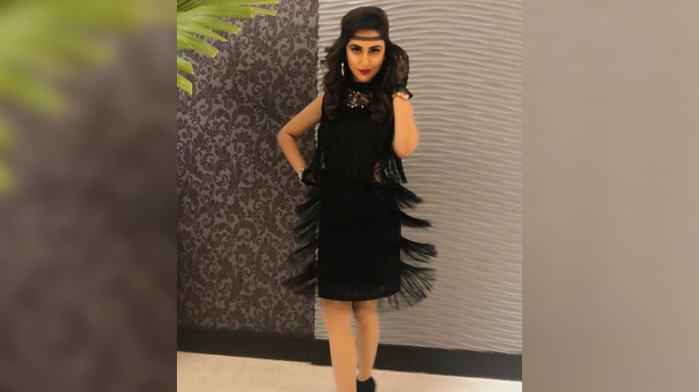 Krystle D'Souza looks stunning in this sexy black dress