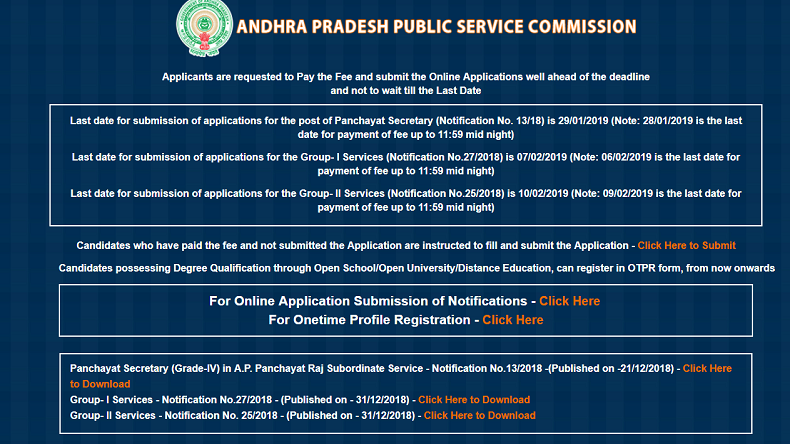 Now the willing candidates can apply for the posts till January 29, 2019, with the last date for online fee payment being January 28, 2019 till 11:59PM.