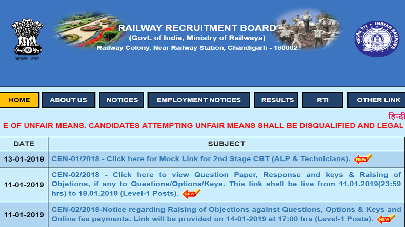 RRB Group D result, Railway Recruitment Board,