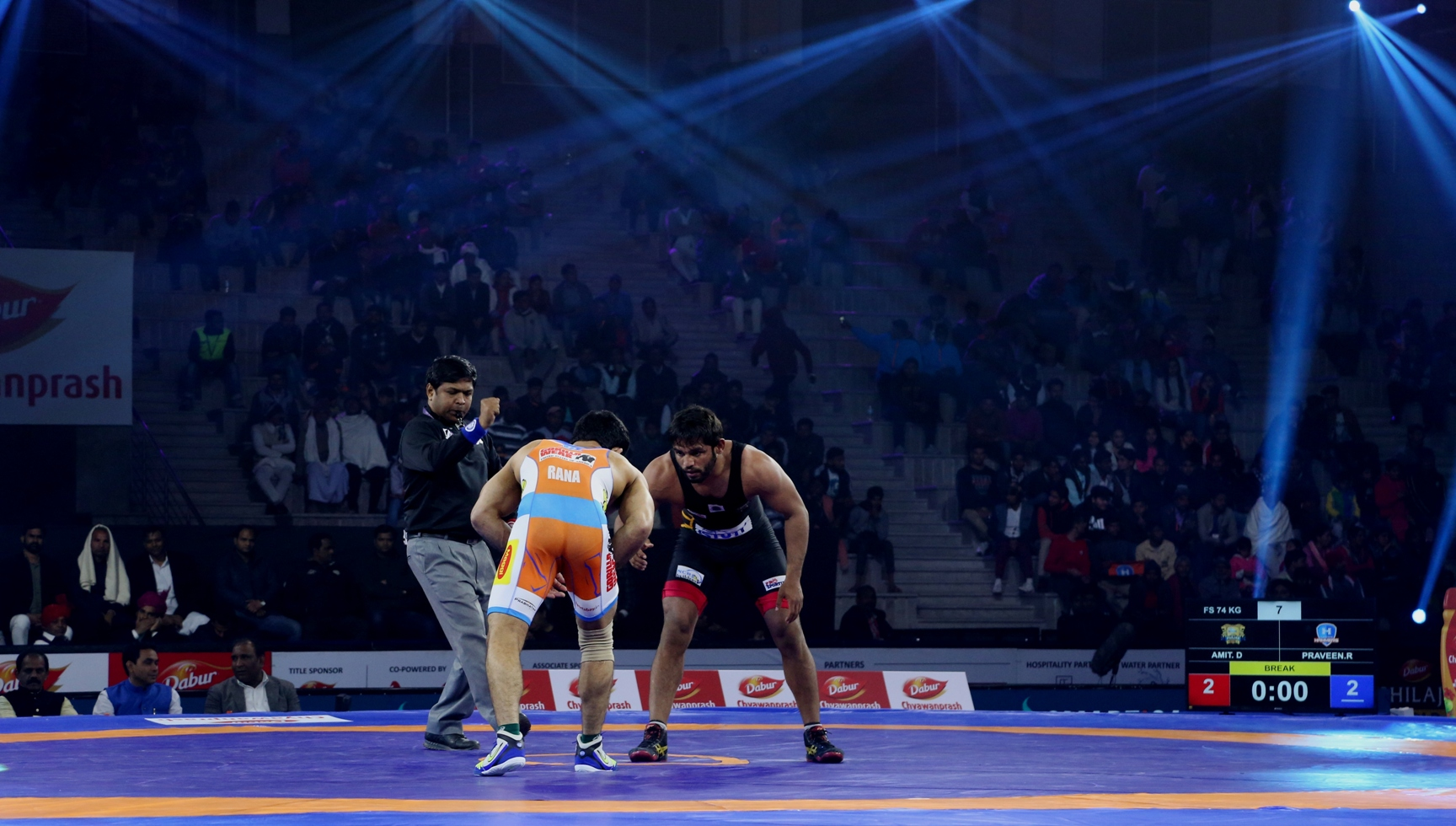 PWL 4- Amit Dhanker of Punjab Royals wins it for his team in the final and deciding bout against Haryana Hammers Praveen Rana