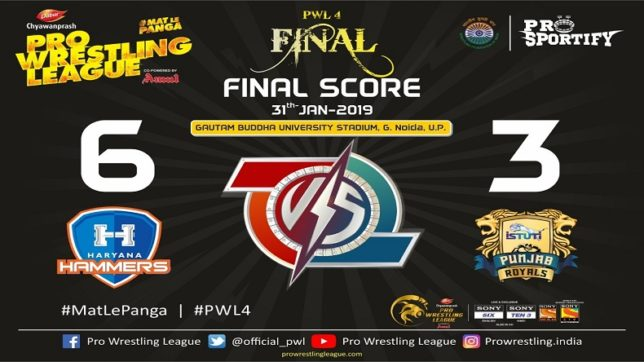 Pro Wrestling League Season 4 Day 18 Final Haryana Hammers vs Punjab Royals Highlights Haryana Hammers crowned champions of PWL as they brush aside rivals Punjab Royals by 6-3