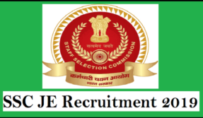 SSC JE Recruitment 2019, Staff Selection Commission vacancies, SSC jobs 2019, ssc.nic.in