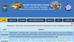 RRB, Railway Recruitment board, rrb official website, rrbcdg.gov.in, RRB 2nd stage Group C results, RRB 2nd stage Group C technician results, RRB Group C, D posts recruitment,