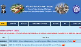 RRB Notification 2019
