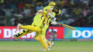 IPL 2019: Mitchell Santner's last-ball sixer leads Chennai to 100th victory in IPL, beat Rajasthan Royals by 4 wickets