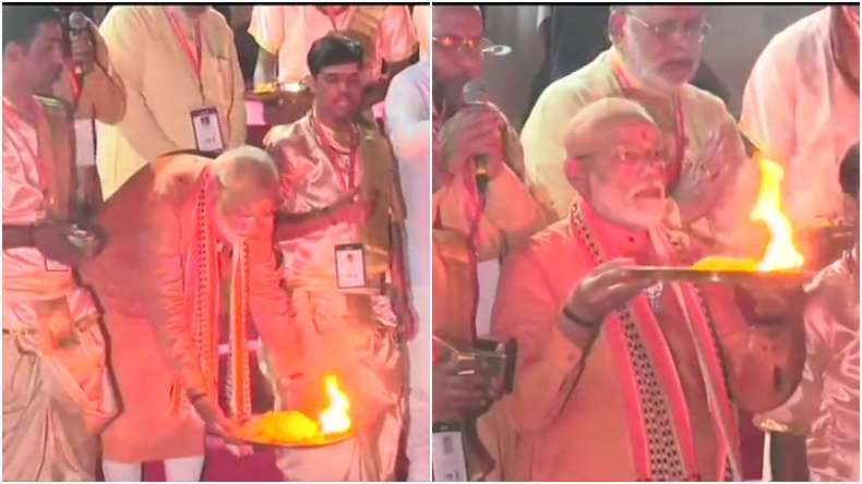 PM Narendra Modi performs Ganga Aarti in Varanasi, condemns Sri Lanka blasts, says no temple attacked in India during BJP rule