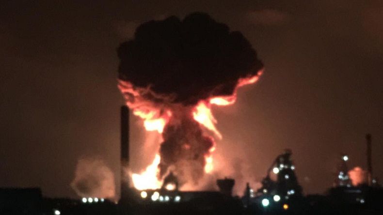 Tata Steelworks plant in UK, Port Talbot explosion