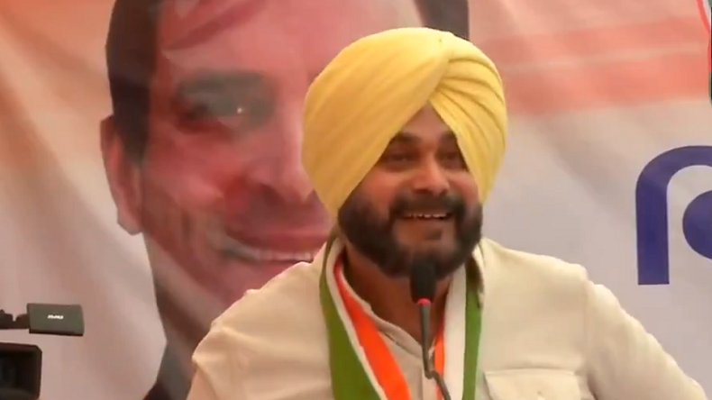 Punjab Minister Navjot Singh Sidhu was addressing a Congress rally in Ahmedabad, Gujarat, on Wednesday, April 17, 2019.