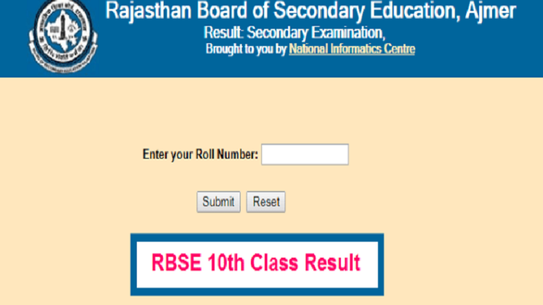 Rajasthan board result class 10 2019, Rajasthan board result 2019, RSBSE class 10 result