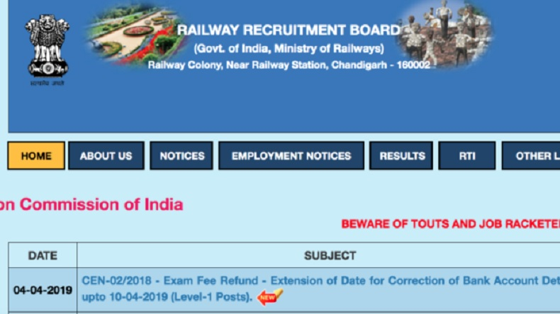 RRB MI Recruitment 2019, RRB MI Recruitment 2019 application process, RRB MI Recruitment 2019 application process last date, RRB ministerial isolated posts, rrb.cdg.gov.in,