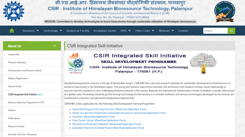 CSIR IHBT recruitment 2019, jobs for biotechnology post graduates, govt jobs in himachal, govt jobs for biotechnology, Council of the Scientific and Industrial Research