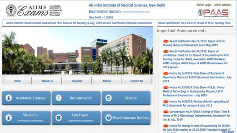 AIIMS MBBS Result 2019 declared: List of websites to check and download AIIMS MBBS results