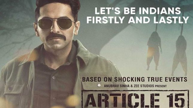 Read Article 15 movie review here!