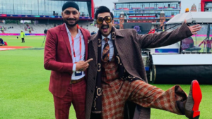 Ranveer Singh at Ind VS Pak match