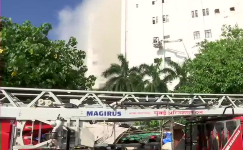 Mumbai: Several people trapped in MTNL (Mahanagar Telephone Nigam Limited) building in Bandra, are being evacuated. A level 4 fire has broken in the building, 14 fire tenders are present at the spot.