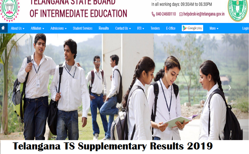 Telangana TS Supplementary Results 2019: Check steps to download results @ bie.telangana.gov.in
