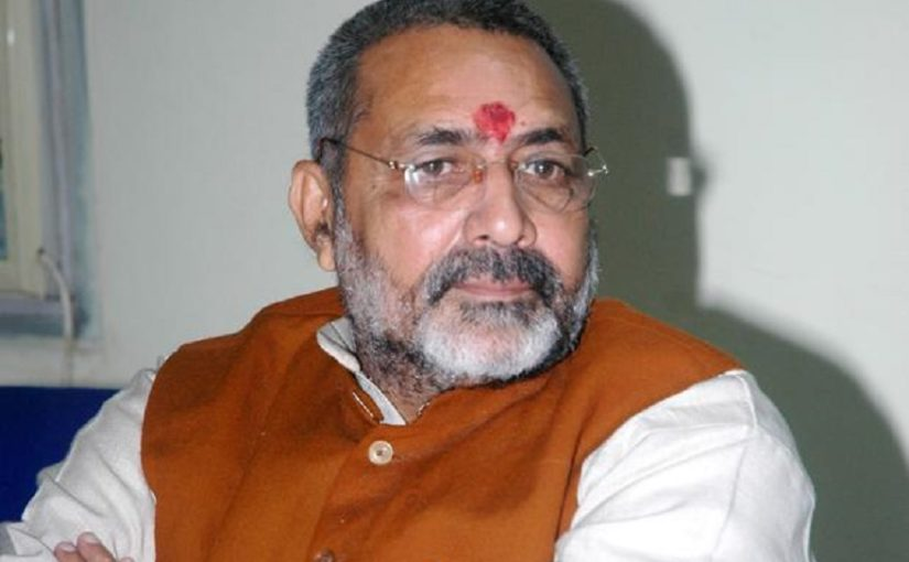 Giriraj Singh thinks couples with more than two children should be deprived of right to vote