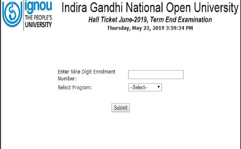 IGNOU MBA, B.Ed entrance hall ticket to be released