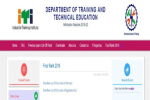 ITI Delhi final rank list 2019 declared