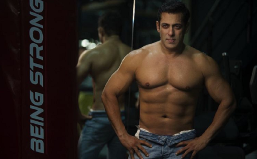 Salman flaunting his six-pack abs