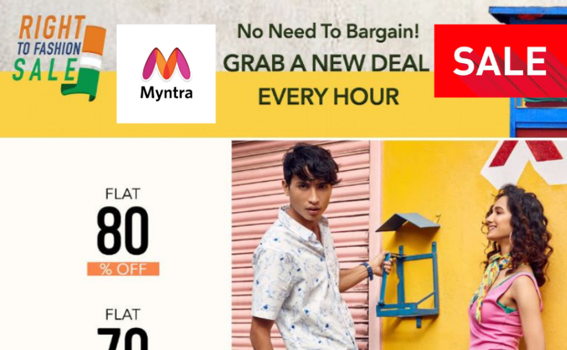 Myntra Right To Fashion Sale: Get the best offers in clothes, watches, shoes up to 80 %