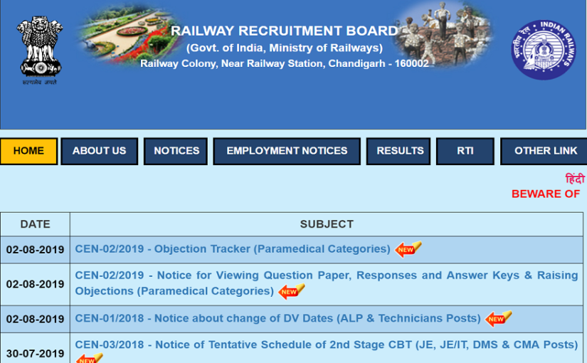 RRB JE Result 2019 released, what's next