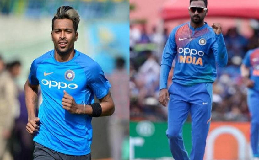 Proud of you big brother: Hardik Pandya on Krunal's game in India tour of West Indies