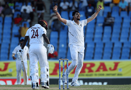 India vs West Indies 1st Test: Ishant Sharma puts India on top, Windies trail 108 runs with 8 wickets down