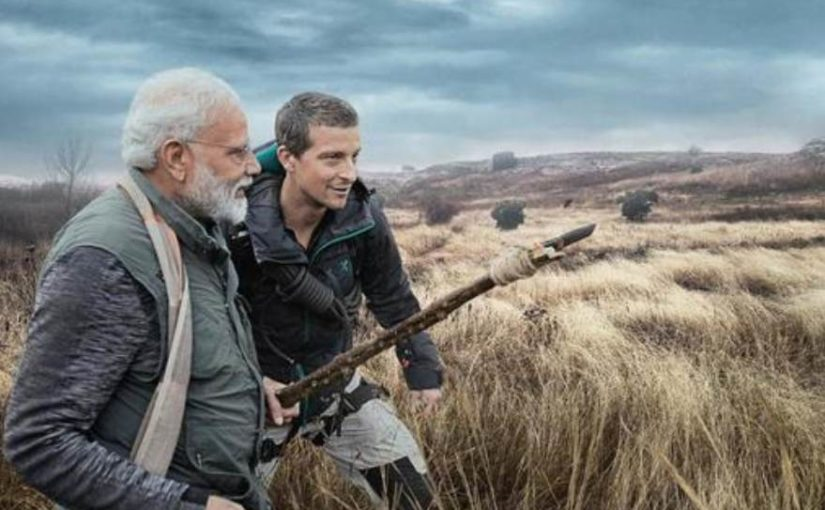 PM Narendra Modi on Man vs Wild with Bear Grylls