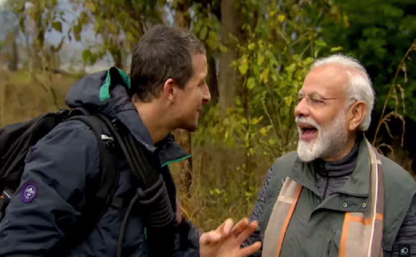 Modi with Bear Grylls in Man vs Wild: PM Narendra Modi says his culture doesn't allow him to kill anyone, wins millions of hearts