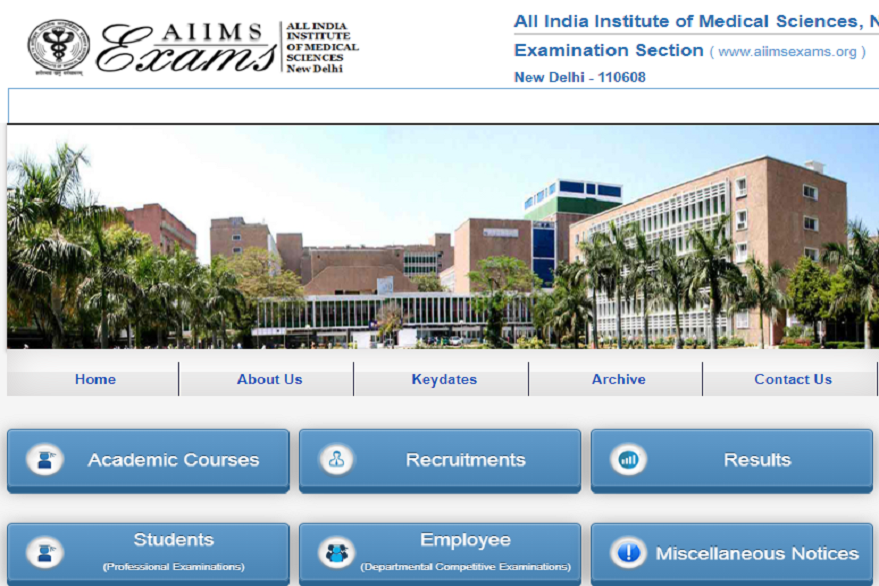 AIIMS Nursing Officer Admit Card 2019 released, download @aiimsexams.org