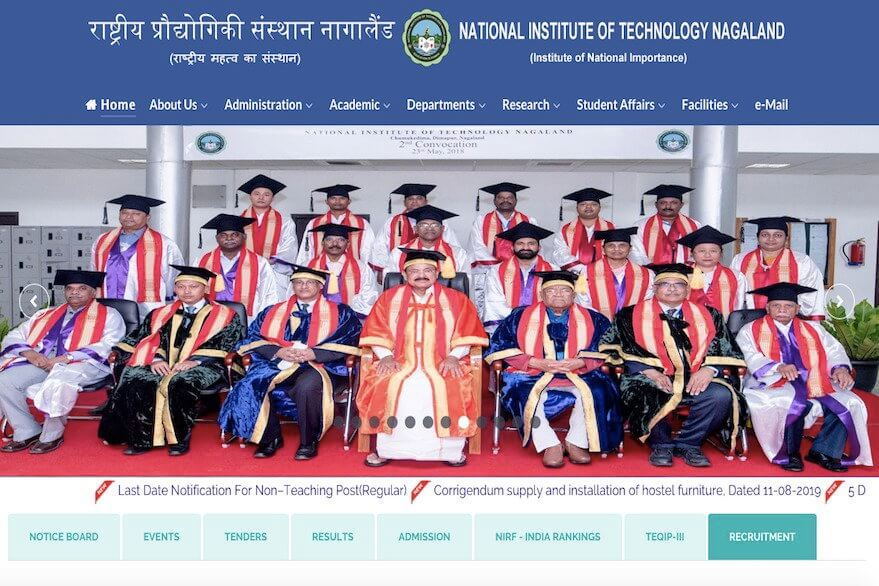 NIT Nagaland Recruitment 2019: Apply for 09 Technician, Stenographer, other posts