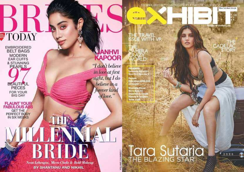 janhvi kapoor or tara sutaria, who wore the outfit better for the magazine?