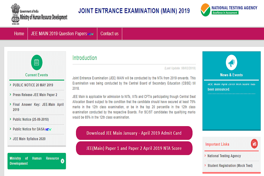 JEE Main Registraion 2020 to start tomorrow: Know how to apply @ jeemain.nic.in