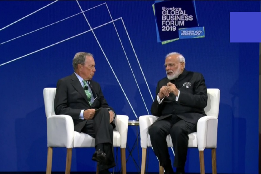 Prime Minister Narendra Modi at Bloomberg Global Business Forum| ANI photo