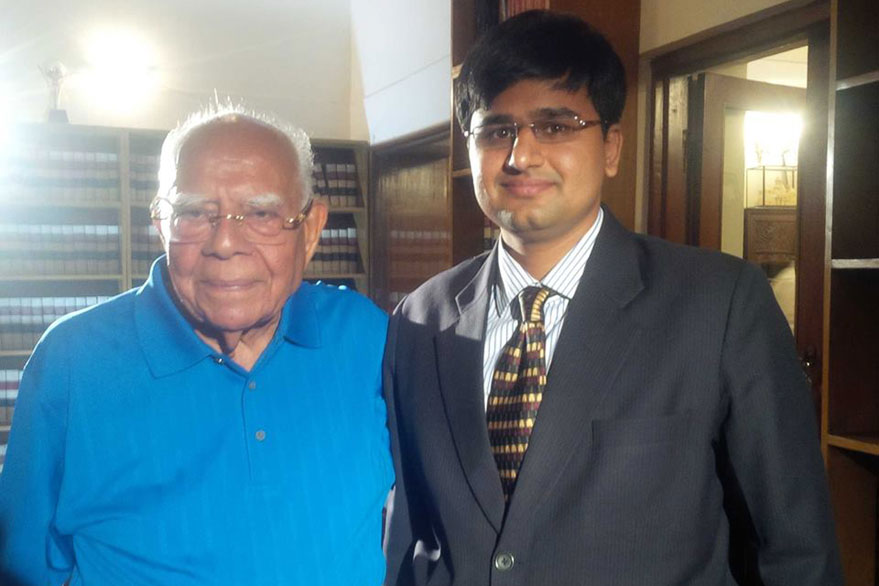 Mr. Ram Jethmalani, you have taken off to argue before the lord's court, but we will miss you on earth!