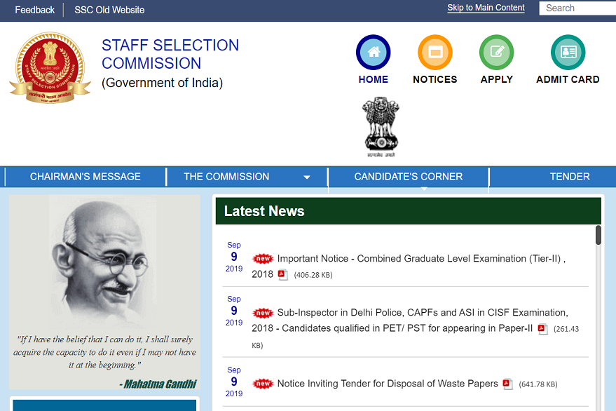 SSC CHSL 2018 Result released, check now
