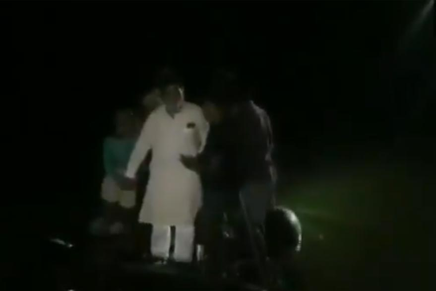 Bihar floods: BJP MP Ram Kripal Yadav falls into water after boat capsizes, rescued by locals