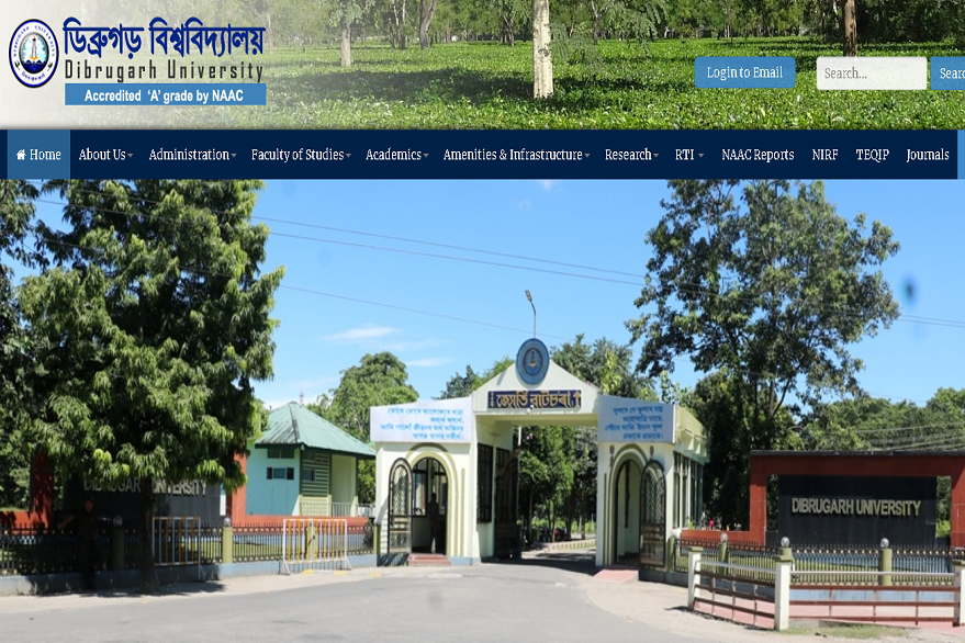 Dibrugarh University releases time table for UG courses