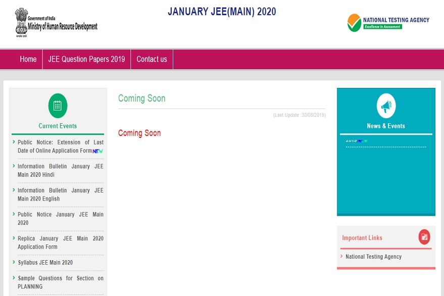 JEE Main 2020: Extended application process ends on October 10, apply at jeemain.nta.nic.in