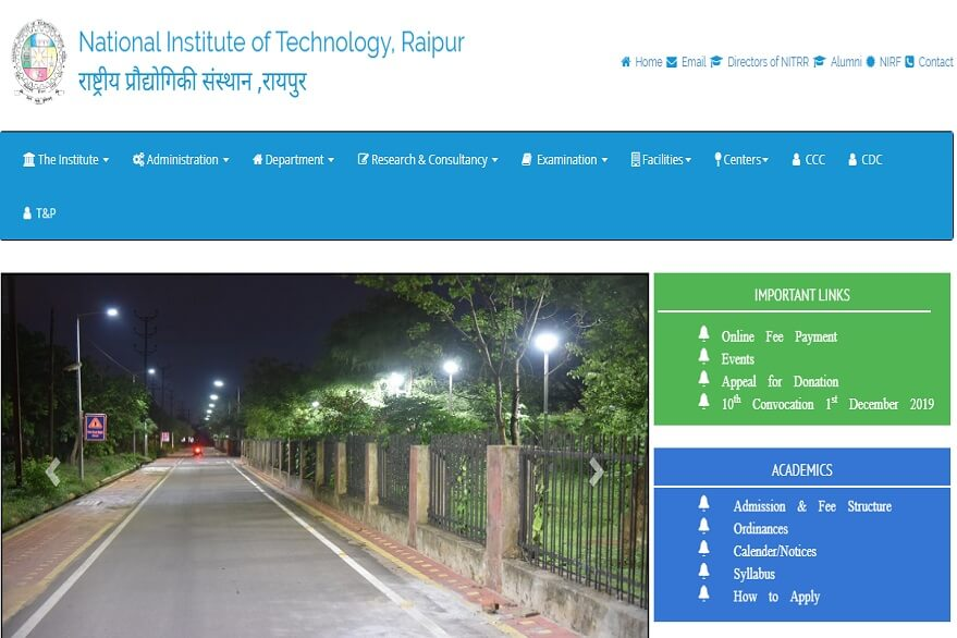 NIT Raipur Recruitment 2019: Apply for Professor, Assistant Professor, other posts, check details here @nitrr.ac.in